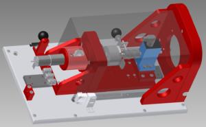rotabench® EPS/CT Hardware: 3D CAD Zeichnung der Prüfstands-Mechanik